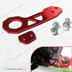 Red Universal JDM Rear Racing Tow Hook - Top Quality Billet Aluminium