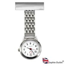 Stainless Steel NURSE WATCH Brooch Pin Tunic Medical Mid Wife Fob Watch Gift UK