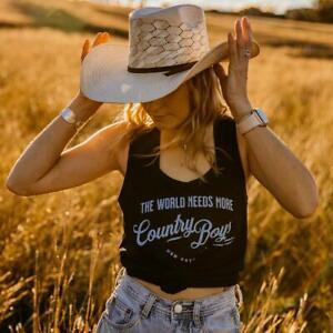 Country Boys Ladies Black Singlet