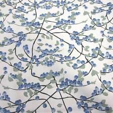Stoff Meterware Baumwolle Blaubeeren blau  Schweden Landhaus Stil weiß Neu