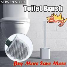 Silicone Toilet Brush Toilet Brush Holders Creative Cleaning Brushs Set 2020
