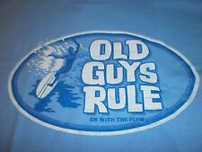 Old Guys Rule Go With The Flow Surf Surfboard Fin Longboard S/S Size L T-Shirt