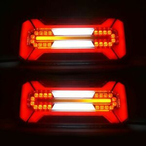 Satz 2 Stück LED Rückleuchten mit Nummernschildbeleuchtung links  12/24 Volt