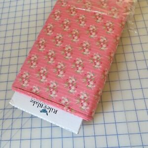 ~1/2 Yard ~ Coral Floral 'Flower Market' By Riley Blake 100% Cotton Fabric