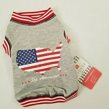 New listing Dog Shirt Pet Wear Kyeese Wear Dog Patriotic Shirt Small Top American