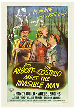 Horror Comedy: * Abbott & Costello Meet The Invisible Man * Movie Poster 1951