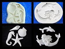 Silicone Mold Mould  for sugarcraft, Sugar Cake,Cupcake, Clay -  Under The Sea