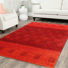 5'x7' Oriental Red Gabbeh Nomad Hand Knotted 100% Wool Area Rugs Carpets