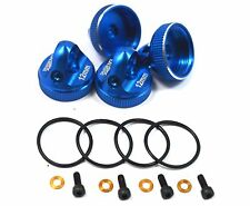 CNC Alloy Shock Caps (4) Blue For Team Associated RC10 B6 B6D B64 B64D B5 B5M