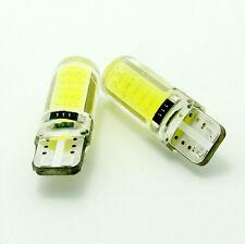 2 LAMPADINE silicone auto T10 W5W 194 2 LED COB CANBUS NO ERRORE LUCE  BIANCA 2W
