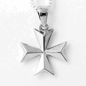 Hallmarked KNIGHTS of MALTA MALTESE CROSS Amalfi Jewelry Sterling Silver Pendant