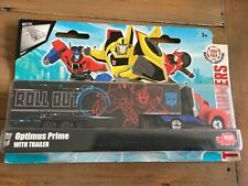 TRANSFORMERS ROBOTS IN DISGUISE  OPTIMUS WITH TRAILER - METAL