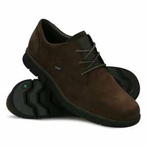 Mens TIMBERLAND Bradstreet Gore-Tex Brown Leather Lace Up Shoes size UK 8 42
