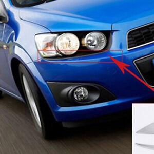 For Chevrolet Aveo 2011-2013 Chrome Front Head light Lamp Eyelid Eyebrow Cover