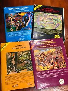 Vintage Dungeons & Dragons Basic Set #1001 In Original Blue Box TSR 1980