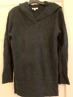 Denim & Co. Crossover V-Neckline Long Sleeve Tunic Sweater - Medium - Black