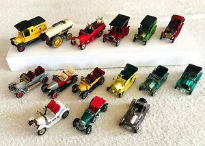 Vintage 1969 Lot 15 Different MATCHBOX Lesney MODELS OF YESTERYEAR Cars 1-15 VG