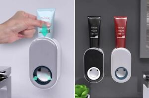 Automatic Toothpaste Dispenser Wall Mounted Holder Squeezer Bathroom Toilet Home