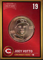 Joey Votto 2018 Baseball Treasure MLB Coins Copper  Cincinnati Reds FD3208