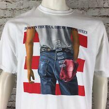 Bruce Springsteen Born In The USA Men's White T-Shirt XL Gildan Free Ship
