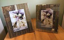 Set of 2 Cole Street Designs Mirrored Photo Frames Modern Designer Home 5x7 4x6
