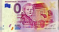 BILLET 0  EURO  MOZARTHAUS SALZBURG AUTRICHE   2017  NUMERO 1301