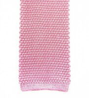 """NWOT E Marinella Napoli Mens 100% Silk Hand Made Knit Tie Necktie Pink 2.5"""""""