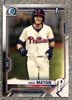 2021 Bowman Chrome Nick Maton Rookie 1st BCP - #BCP-5 - Philadelphia Phillies