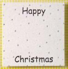 8 Silver Foil Printed Happy Christmas Topper Panels
