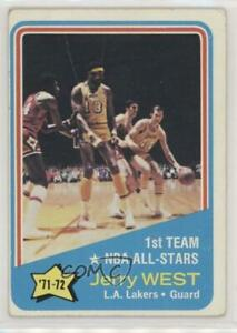 1972-73 Topps Jerry West Wilt Chamberlain ( Visible in Photo) #164 HOF