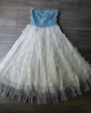 prom tiered marshmallow romantic dress dyed traffic people @ topshop xs 8
