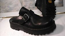 Cat Caterpillar Black Leather  Women's Shoes Size 10W
