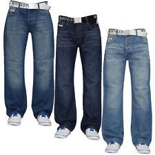 "Mens Denim Jeans Bootcut Faded Regular Pants Trousers Cotton All Waist 28"" - 36"""