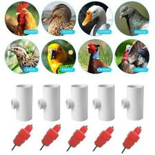 Chicken Hen Automatic Water Drinker & Fitting Poultry Nipples Drinking N7X1
