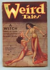 Weird Tales December,1934 Robert E.Howard Conan A Witch Shall Be Born VG/F