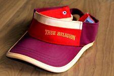 AUTHENTIC TRUE RELIGION BRAND JEANS VISOR CAP ORANGE