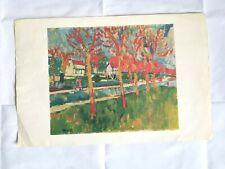 Les Ecluses de Bougival Maurice De Vlaminck Bristol Lithograph Print Repro