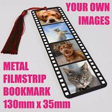 Personalised Photo Bookmark Filmstrip Metal Gift  Literary Books 130x35mm