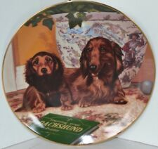 Vintage Dachshunds Wiener Dog Christopher Nick Collector Plate Come Here