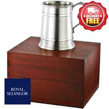 Royal Selangor Straight Sided Pewter Tankard in Wooden Gift Box 450ml