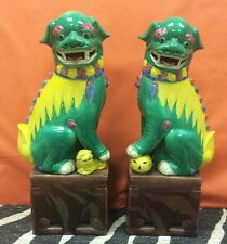 Fab Pair of Ceramic Chinese Foo Dogs