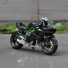 1:18 Maisto Diecast Motorcycle Model Toy Kawasaki Ninja H2 R Sport Bike Replica