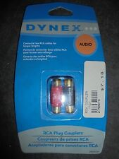 Dynex DX-AV291 RCA Red Black Couplers Gender Changer for Car Audio Cable Cord