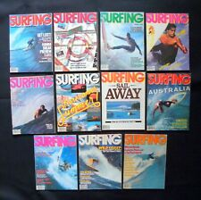 Surfing Magazine 1980 Vol.16 Lot Of 11 Issues Surfer Longboarding Hawaii