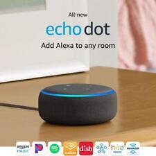 *NEW* AMAZON ECHO DOT SMART SPEAKER ALEXA VOICE LATEST 3RD GENERATION CHARCOAL!✔