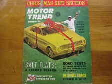 Motor Trend Magazine, December 1962, Christmas Gift Section