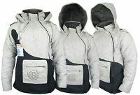Quilted Hemp Cotton Line Side Zip Jackets Warm Puffer Vintage Jumper Coat Hoodie