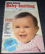 Vintage 1974 Mon Tricot Baby-Knitting Magazine Spinnerin Yarns-70 Designs