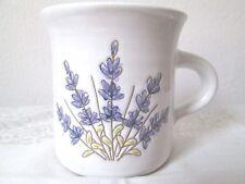 pottery mug handthrown floral