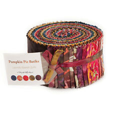 "Moda FABRIC Jelly Roll ~ PIMPKIN PIE BATIKS ~  Laundry Basket Quilts 2.5"" strips"